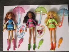 lot 3 Poupées Dolls WINX CLUB Mattel BLOOM STELLA LAYLA parapluie umbrella 2008