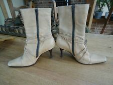 LADIES EMILIO LUCA X TAN LEATHER ANKLE BOOTS ON GOOD CONDITION SIZE 6