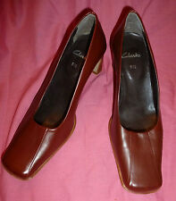 Vintage style Clarks shoes 40s 5 1/2 brown leather retro revival