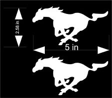 2 Pony Mustang vinyl decals for your car or truck.  Choose color and size!
