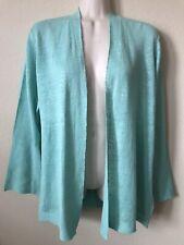 NWT Eileen Fisher Mint Green Organic Linen Knit Women's Cardigan Size PM