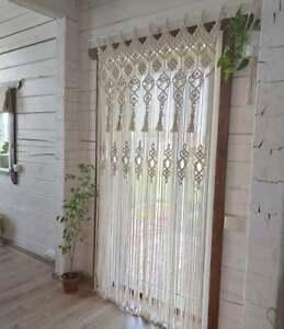 Handmade Wall Hanging Bohemian Geometric Art Macrame Curtain Wedding Backdrop
