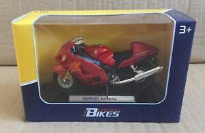 LEGENDARY BIKES- SUZUKI HAYABUSA 1/18 MOTORCYCLE DIECAST, WELLY, MIB