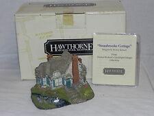 """Thomas Kinkade's Candlelight Cottages """"Swanbrooke Cottage"""" 78153 With Coa & Box"""