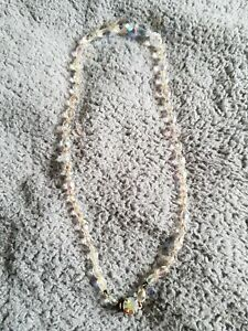 Newquay pearls clear pearl necklacewith coloured pearl