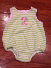 Gymboree By The Seashore Striped Terry Bubble Romper 0-3 Months