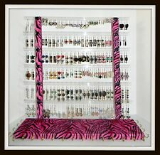 Earring Holder/Rack GLITZY GIRL Bracelet & Necklace Holder D3-Hot Pink Zebra