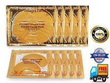 (10) 5 Pieces Gold Bio Collagen Facial Face Masks + 5 Free Pairs Pilaten Eye Pad