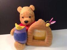 "Disney Store Plush Winnie The Pooh Photo Picture Frame 4 x 3.5"" VGC CUTE"
