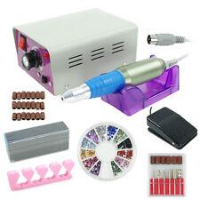 Electric Nail Drill File Kit, Finger Toe Nail Care Manicure Pedicure Set, Pink
