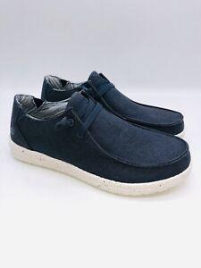 Skechers Streetwear Men's 56220 Relaxed Fit Air Cooled Slip On Sneakers - Navy