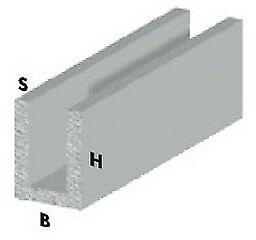 profilo canalino a U cm 200 h cromato 10x10x1 mm profili alluminio