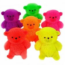1 x Light Up Flashing Puffer Teddy Bear Squidgy Sensory Toy Party Bag Filler