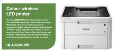 Brother HL-L3230CDW A4 Colour Laser Wireless Network Printer - White