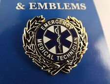 BRAND NEW Lapel Pin Emergency Medical Technician EMT Wreath 1""