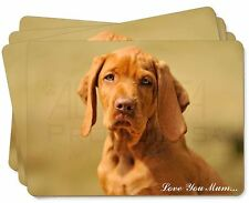 Hungarian Vizsla Dog 'Love You Mum' Picture Placemats in Gift Box, AD-V2lymP
