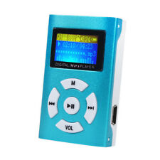 USB Mini MP3 Music Player LCD Screen Support up to 32GB Micro SD TF Card Blue