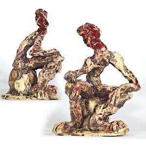 "Art sculpture ""The Thinker"" 19 cm unique Andreas Loeschner-Gornau"