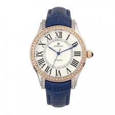 Empress Xenia Automatic Crystal Genuine Leather Blue Watch EM2602