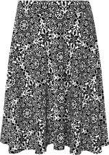 Polyester Knee-Length Geometric Skirts for Women