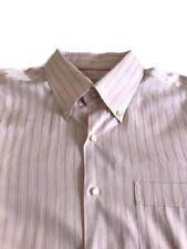 Tommy Bahama Men's Button Front Dress Shirt Sz 17 34 35 L/S Coral Blue Striped
