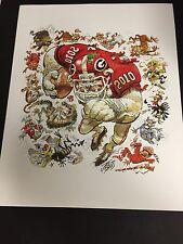 Georgia Bulldogs Football 2010 Jack Davis art print Aaron Murray UGA Dawgs