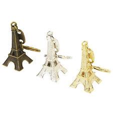 Retro Mini Paris Eiffel Tower Model Keychain Keyring Metal Split Key Ring DQ