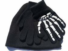 Faded Glory Kids Gripper Skeleton Beanie & Glove Set One Size Black