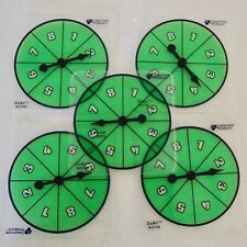 Lot of 5 Transparent NUMBER SPINNERS 1-8 Game Math Manipulative School Classroom