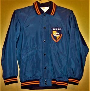 CHICAGO BEARS NFL Football Russell Size Small Blue JACKET