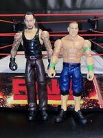 WWE UNDERTAKER AND JOHN CENA MATTEL WRESTLING ACTION FIGURE WWF