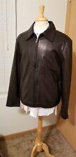 Gorgous New Tommy Hilfiger Black Leather Jacket Sz XL...