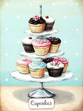 Cupcakes, Retro metal Sign/Plaque Wall vintage / Kitchen Gift