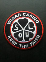LARGE BLUE HEART HEART OF SOUL NORTHERN SOUL PATCH WIGAN CASINO