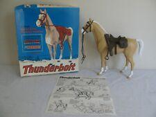 Vintage Marx Johnny West Thunderbolt Western Range Horse w/ Acc. & Box 2061 EX