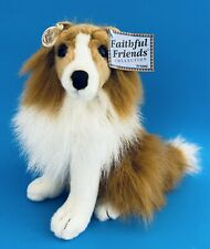 """Collie Dog GANZ Faithful Friends Heritage Collection - 11"""" high - with all Tags"""