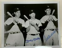 MICKEY MANTLE & TED WILLIAMS SIGNED AUTOGRAPHED 8x10 PHOTO BECKETT BAS #A06285