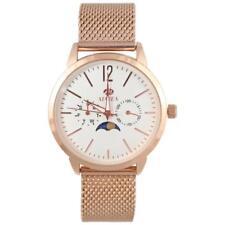 Marea B41179/1 goldene Herren Armbanduhr mit Quarzwerk und Mondphasenindikator