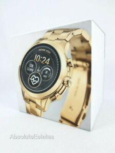 NEW Michael Kors Gen 4 Runway Gold Smartwatch MKT5045 Sealed NIB NWT