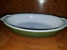 "Emile Henry Williams Sonoma Casserole Baking Dish Green 13"" X 8"" Oval"