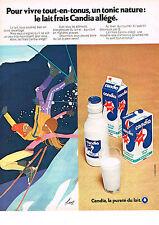 PUBLICITE  1972   CANDIA  lait allégé  par KIRAZ