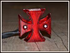 Feu stop - éclaire de plaque Croix de Malte à LED - NEUF - moto custom harley