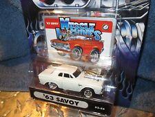 Muscle Machine '63 PLYMOUTH SAVOY white     funline custom  1:64 BLOWER