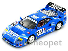 HOT WHEELS ELITE X5508 FERRARI F40 LEMANS 1995 COMPETIZIONE #34 1/43 BLUE