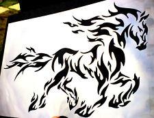 High Detail Aerografo Stencil Flaming Cavallo spedizione gratuita nel Regno Unito