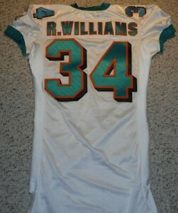 MIAMI DOLPHINS 2003 RICKY WILLIAMS DOLPHINS GAME JERSEY GAME ISSUE JERSEY SZ 46