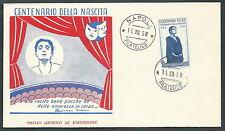 1958 ITALIA FDC GU.SA. DUSE NO TIMBRO ARRIVO - K1