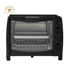 4 Slice Toaster Oven 3 Pcs Dishwasher Safe Rack Pan Kitchen Small Appliances