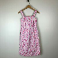 Hanna Andersson Pink Floral Printed Sheath Dress Women's Size 6