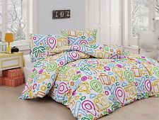 Bedding Set Kids Linen 2 Piece Palm Plane Balloon Fish Girl Boy Gift Christmas